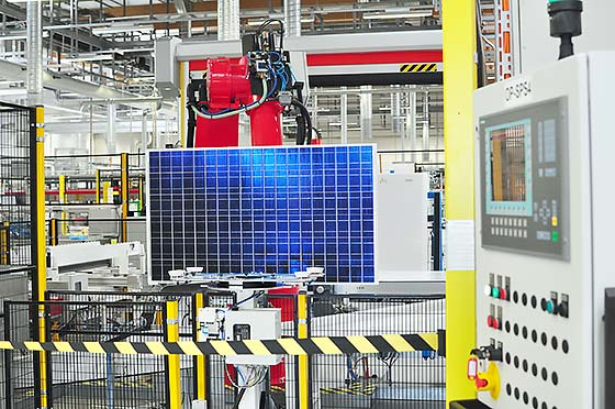 solar panel process control systems